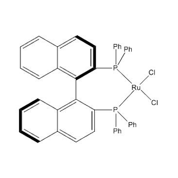 title='Dichloro[  (R) -2,2'-bis (diphenylphosphino) -1,1'-binaphthyl ] ruthenium (II) '