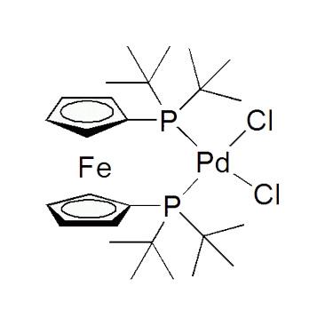 title='Dichloro[ 1,1'-bis (di-t-butylphosphino) ferrocene ] palladium (II) '